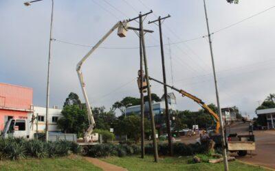 ENERGIA ELÉCTRICA: SE REALIZARON TAREAS DE MANTENIMIENTO SOBRE AV. LAS AMÉRICAS
