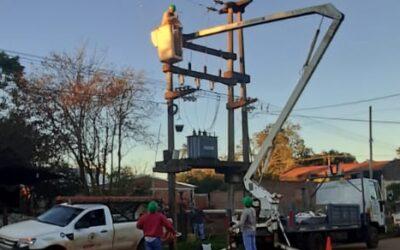 ENERGIA ELÉCTRICA: SE REALIZARON TAREAS INTENSIVAS EN EL TENDIDO